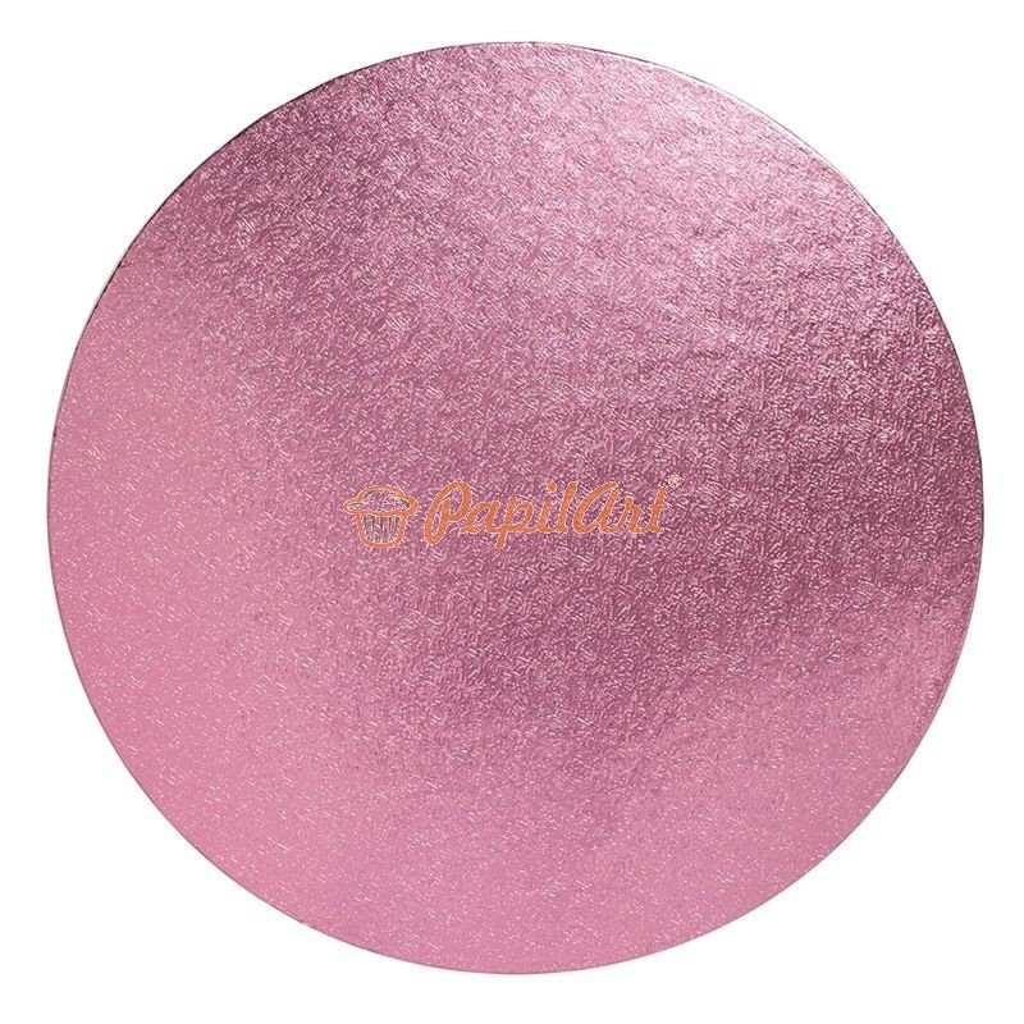 Podkład pod tort okrągły różowy grubość 1,3 cm