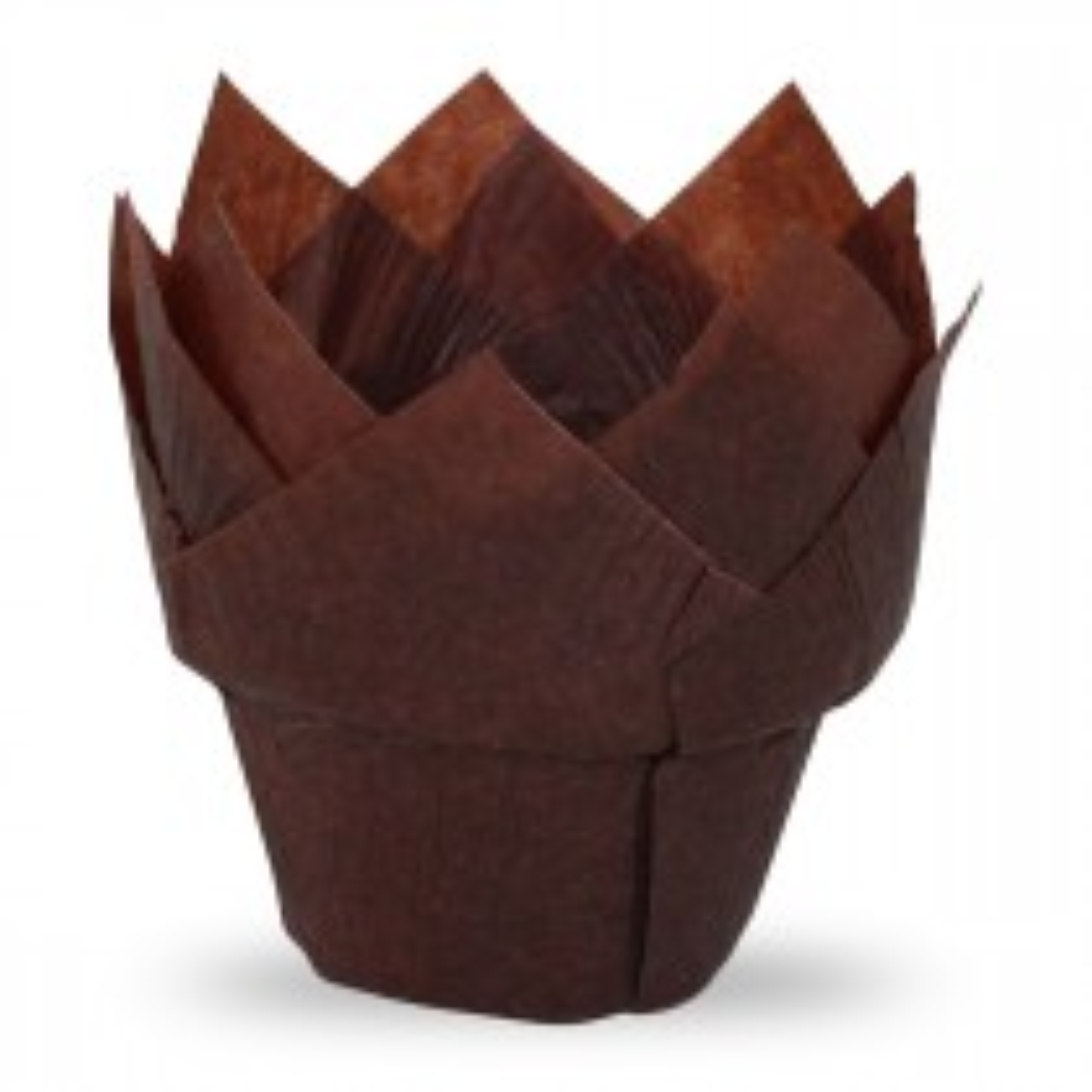 Muffiny Tulipan brązowe do pieczenia.