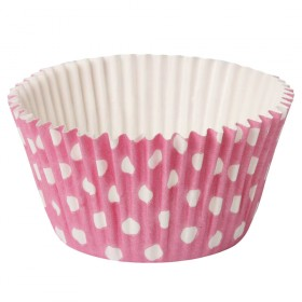Papilotki Cupcake Polka 50/40 różowe