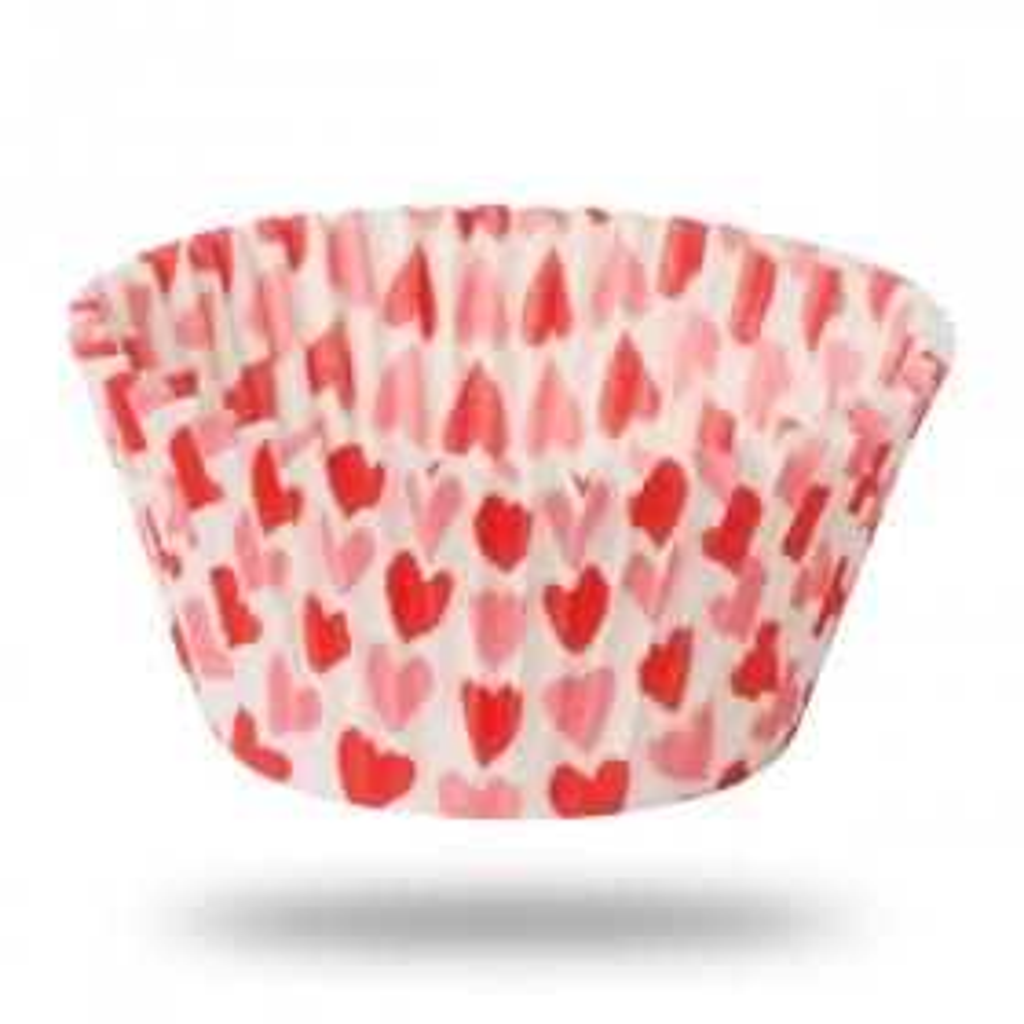Papilotki cupcake w serca