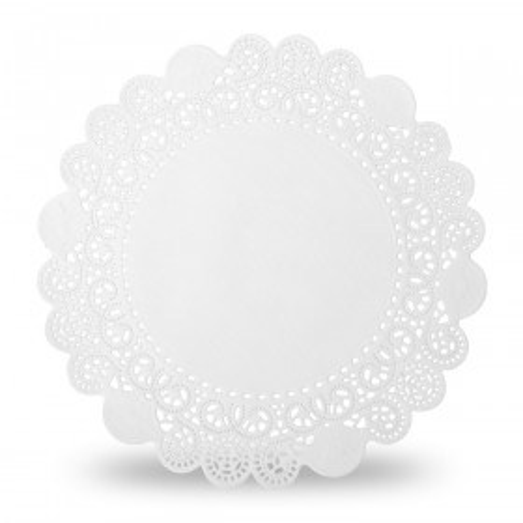 Serwetki papierowe okrągłe białe