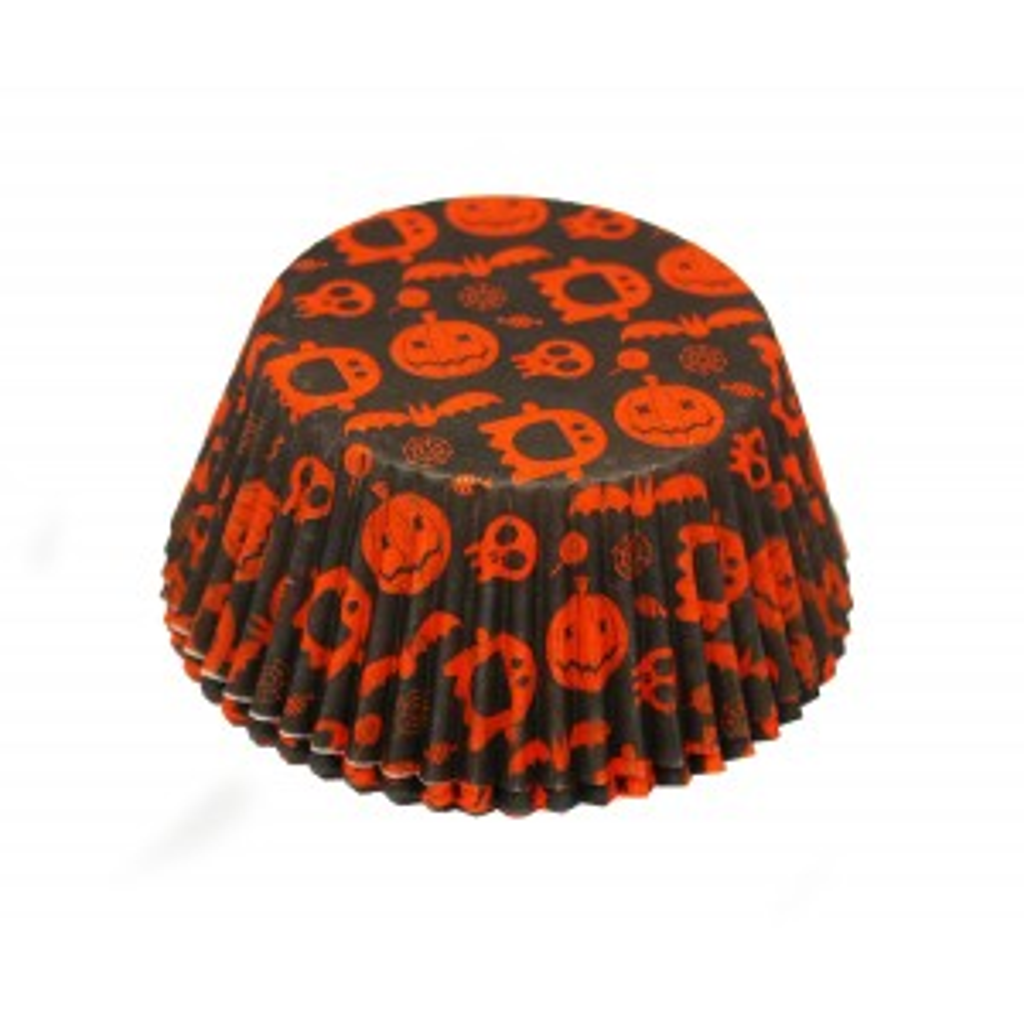 Papilotki pomarańczowo-czarne Halloween
