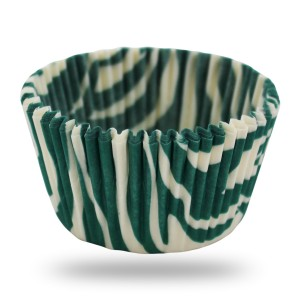 Papilotki cupcake Tiger Green White