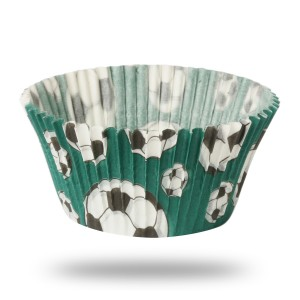 Papilotki cupcake Football Green