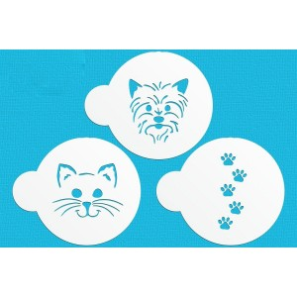 Szablon dekoracyjny Pies i Kot 3 szt.