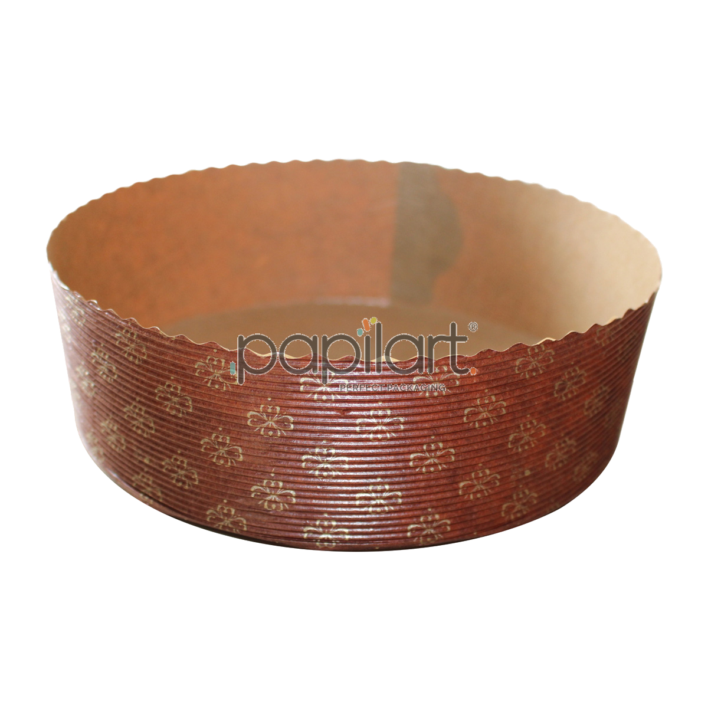 Papierowe, okrągłe formy do pieczenia ciast PB18560. Polecane do ciast drożdżowych, kruchych, biszkoptowych, serników i deserów na zimno.