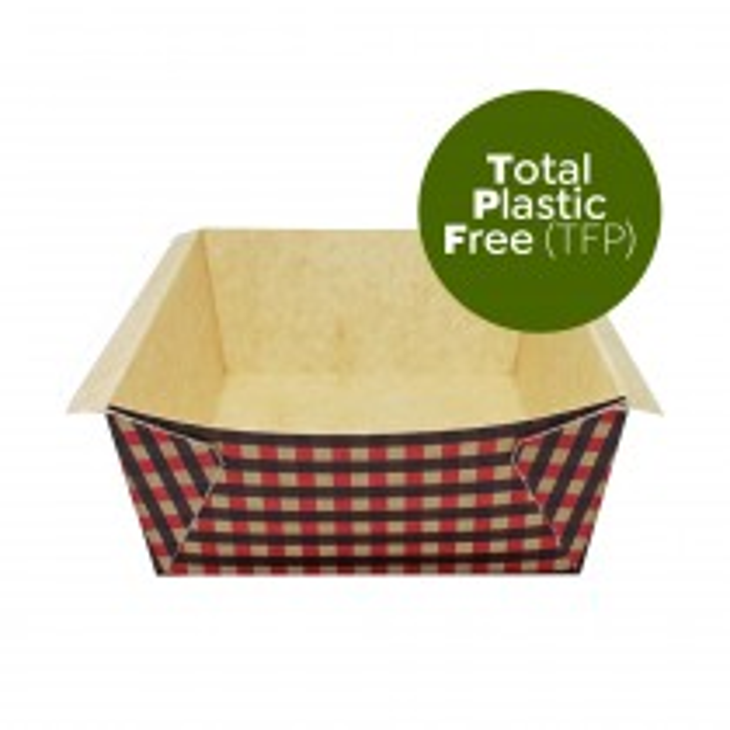 Forma do pieczenia Total Plastic Free (TFP) czerwona kratka