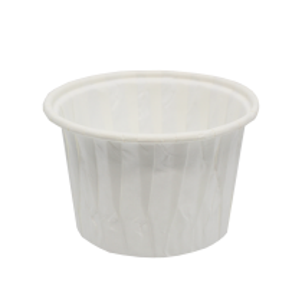 Papilotka kubeczek biały 50x40 mm