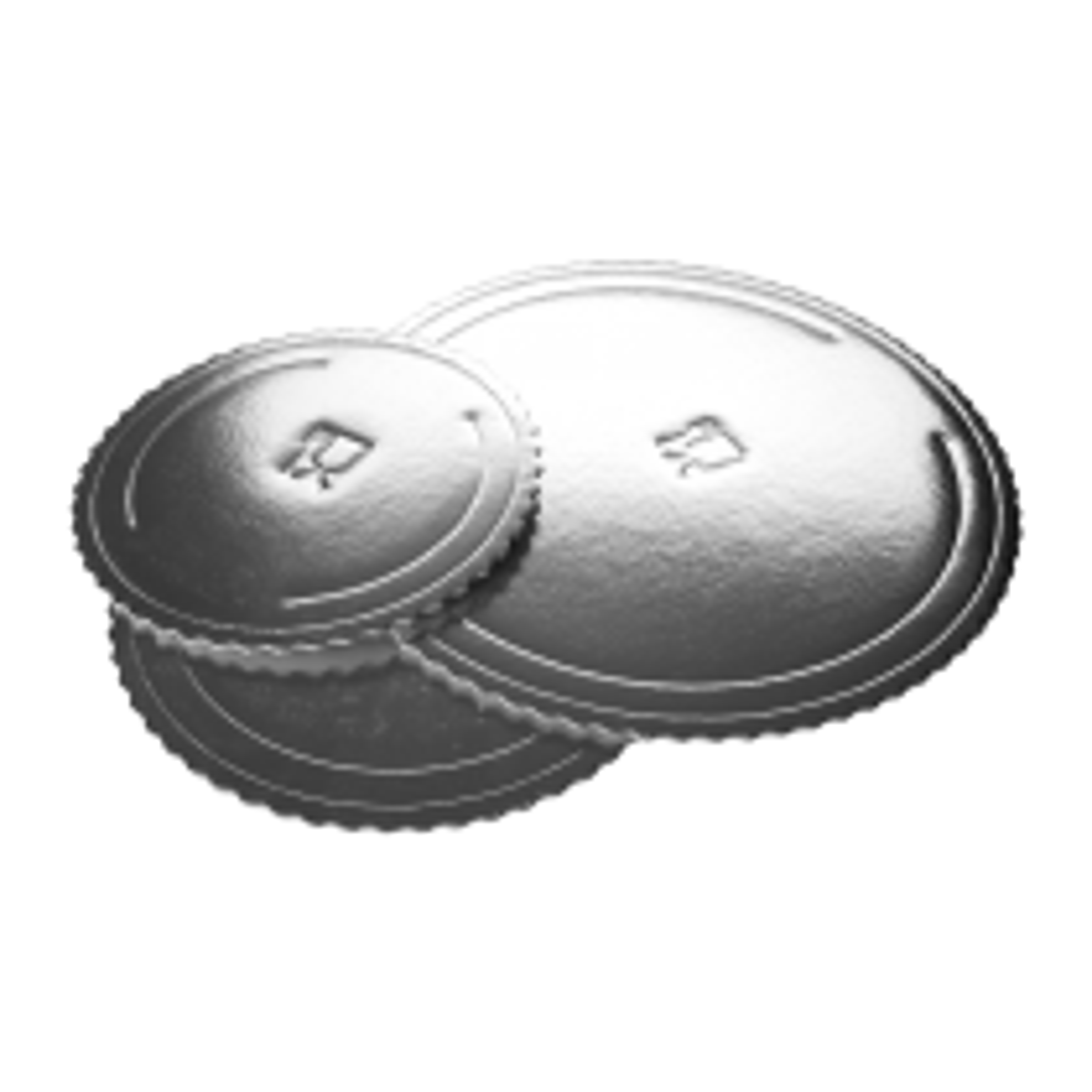 Podkłady pod torty Microtriplo okrągłe srebrne