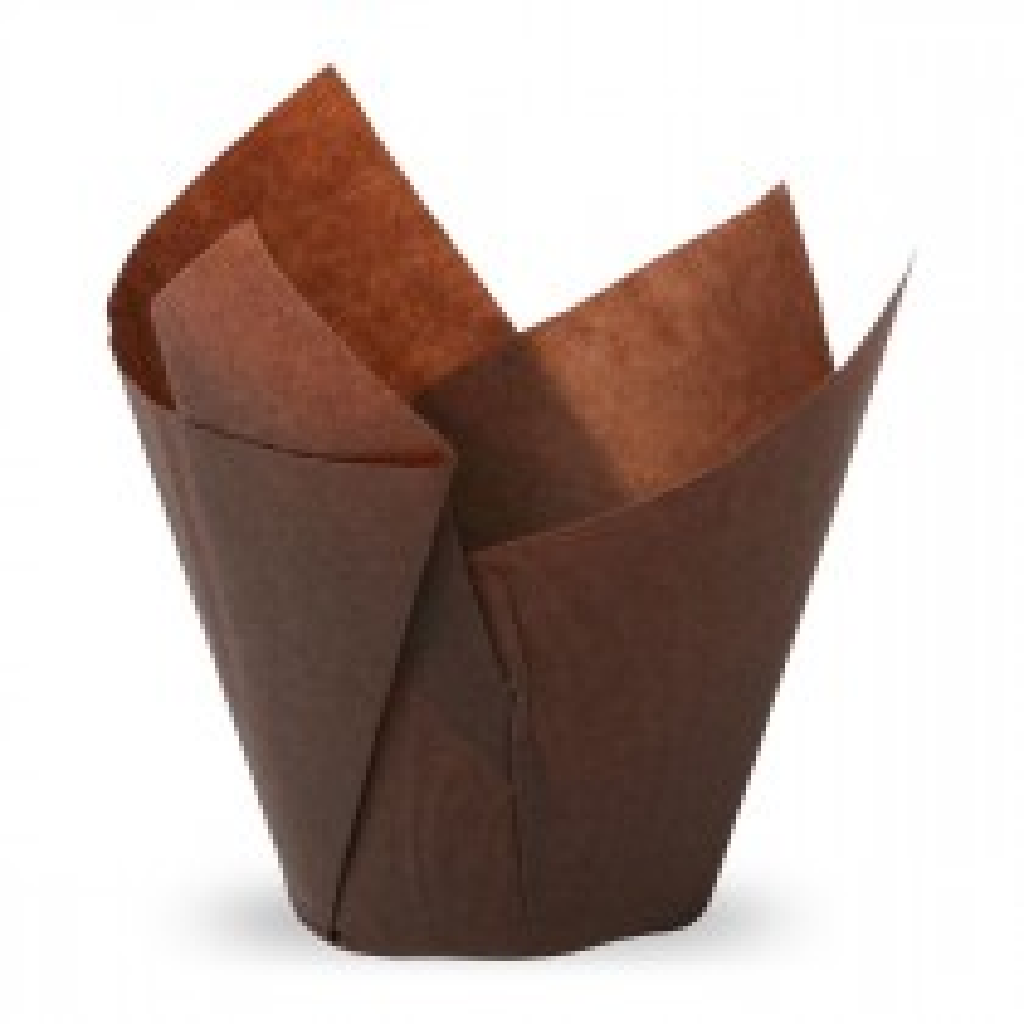 Muffiny tulipan brązowe 50x50 mm