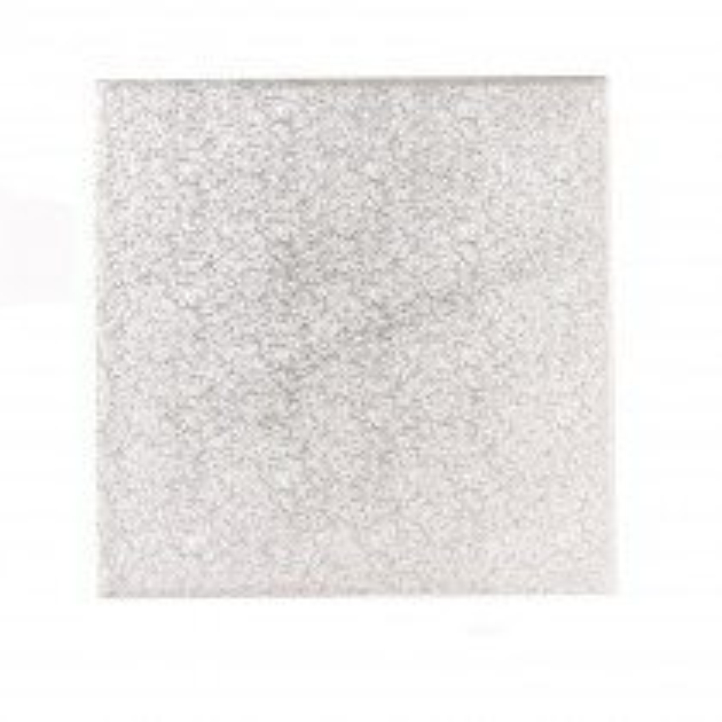 Podkład pod tort kwadratowy srebrny grubość 1,3 cm