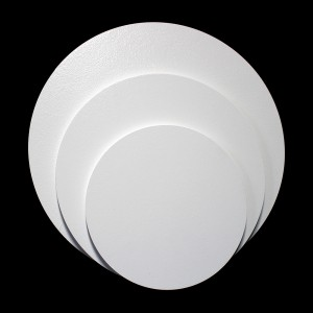 Gruby podkład pod tort gr. 1,0 cm ANG okrągły biały
