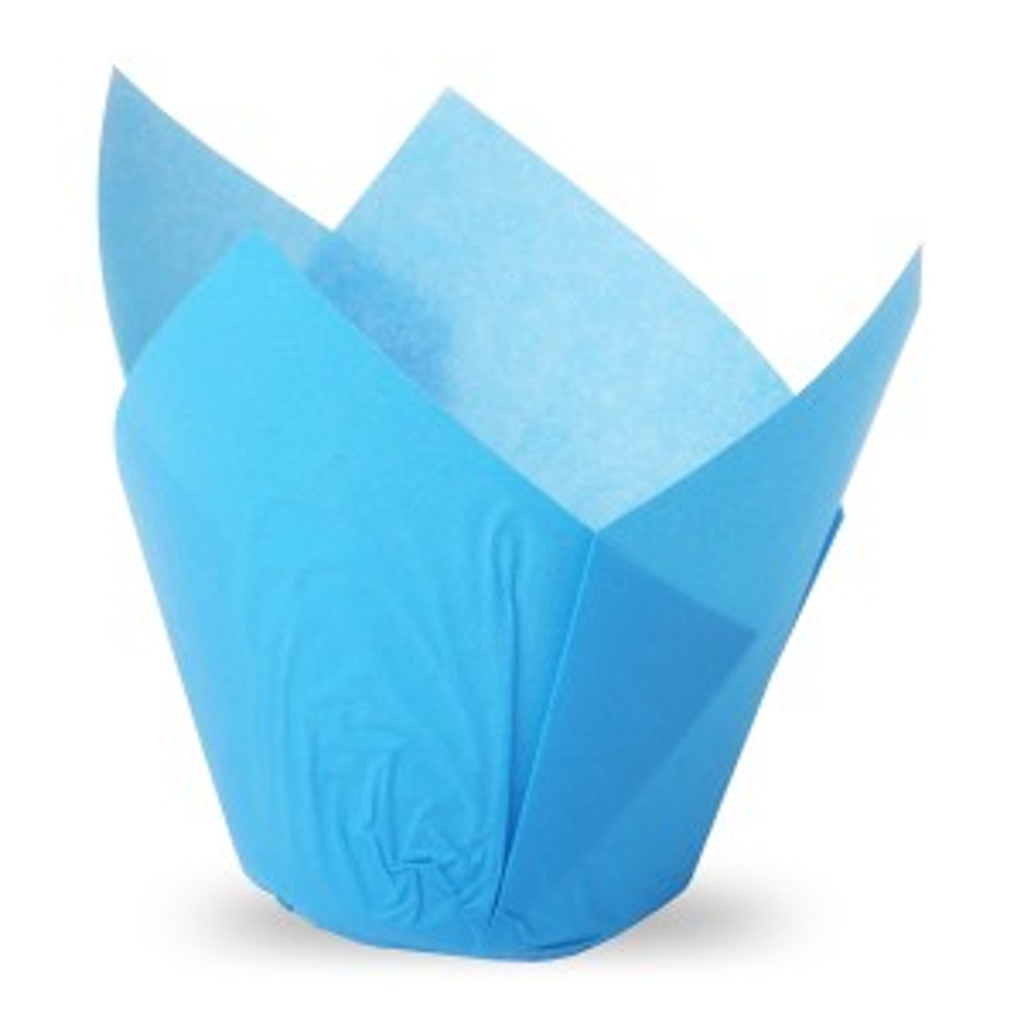 Muffiny tulipan niebieskie 50x80 mm