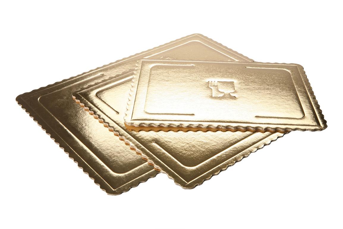 Gruby podkład pod tort w kolorze złotym