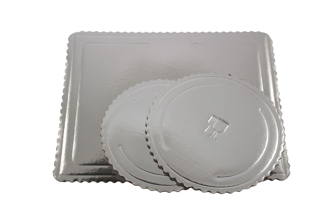 Gruby srebrny podkład pod tort